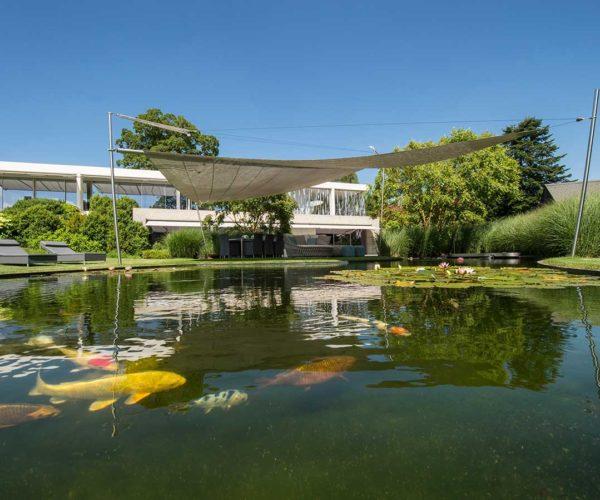 Architektur- und Immobilientfotografie Fotostudio Konstanz: Teich mit Fischen