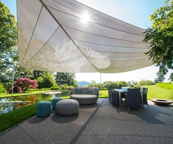 Architektur- und Immobilientfotografie Fotostudio Konstanz: Sonnensegel