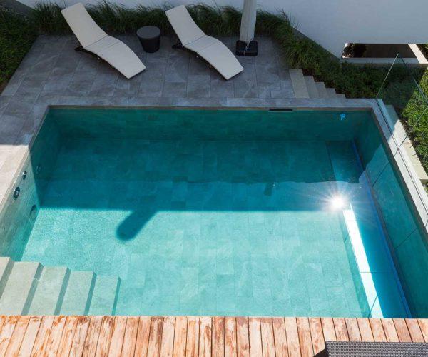 Architekturtfotografie Fotostudio Konstanz _ Draufsicht Pool